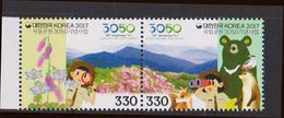 SOUTH KOREA, 2017, MNH, NATIONAL PARK SERVICE, FAUNA, BEARS, FOXES, MOUNTAINS, FLOWERS,  SCOUTS,2v - Bears