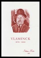 Timbre France Encart Fdc Sur Soie Tableau De Vlaminck N° 1901 - 1970-1979