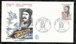 LOUIS BLERIOT . 01 JUILLET 1972 . CAMBRAI . - FDC
