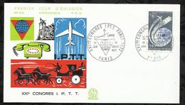 XXIéme CONGRES I.P.T.T . 01 JUILLET 1972 . PARIS . - FDC