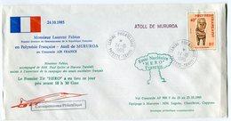 RC 9307 CONCORDE VOL MINISTERIEL FABIUS 1985 MURUROA ESSAI NUCLEAIRE HERO EN POLYNESIE FFC LETTRE COVER - Concorde