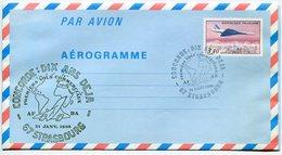 RC 9308 CONCORDE 1986 DIX ANS DEJA 1er VOLS COMMERCIAUX 67 STRASBOURG LETTRE COVER - Concorde
