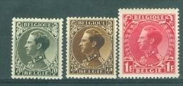 BELGIE - OBP Nr 401/403 - Leopold III - MNH**  - Cote 13,00 € - 1934-1935 Leopold III