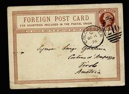 A5546) UK Grossbritannien Karte Colchester 10/11/76 N. Tirol Austria - 1840-1901 (Victoria)