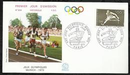 XXéme JEUX OLYMPIQUES . MUNICH . 08 JUILLET 1972 . PARIS . - FDC