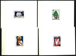 EPREUVE De Luxe - SENEGAL 1992 - Yvert 1027/30 - Sapin Pere Noel ... - Neuf **(MNH) Sans Charniere - Senegal (1960-...)