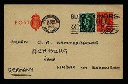 A5547) UK Grossbritannien Uprated Postcard Peterborough 23.2.51 To Germany - 1902-1951 (Koningen)