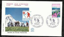 ANNEE DU TOURISME PEDESTRE . 15 JUILLET 1972 . FLORAC . - FDC