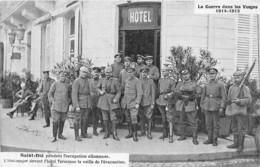 88-SAINT-DIE- PENDANT L'OCCUPATION ALLEMANDE, L'ETAT-MAJOR DEVANT L'HÔTEL TERMINUS LE VEILLE DE L'EVACUATION - Saint Die