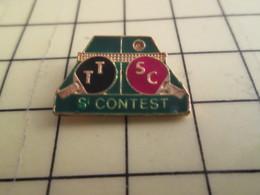 1215c Pin's Pins / Beau Et Rare : Thème SPORTS / TENNIS DE TABLE ST CONTEST CALVADOS TABLE RAQUETTES TTSC PING-PONG - Table Tennis