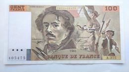 Billet Eugéne Delacroix 100 Francs 1995 ( 10001) - 1962-1997 ''Francs''