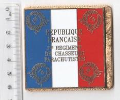 DRAPEAU 1ER RCP REGIMENT DE CHASSEURS PARACHUTISTES  En Métal Doré - Drapeaux