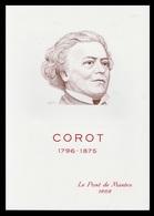 Timbre France Encart Fdc Sur Soie Tableau De Corot N° 1923 - 1970-1979