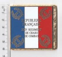 DRAPEAU 503° RCC REGIMENT DE CHARS DE COMBAT En Métal Doré - Bandiere
