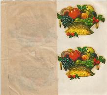 UN PANIER GARNI DE FRUITS , CHROMOTRANSFERT , DECALCOMANIE - Autres
