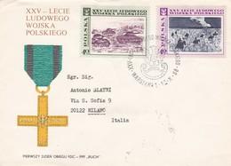 BUSTA VIAGGIATA RACCOMANDATA  - POLONIA - XXV  LECIE LUDOWEGO WOJSKA POLSKIEGO - 1989 - 1944-.... Repubblica