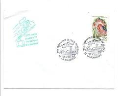 OBLITERATION  L'UPPTT FETE LE TOUR DE FRANCE A LA BOURBOULE PUY DE DOME 1992 - Marcophilie (Lettres)