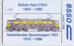 NEDERLAND CHIP TELEFOONKAART CRE 187 * NEDERLANDSE SPOORWEGEN * BRITISH RAIL * Telecarte A PUCE PAYS-BAS ONGEBRUIKT MINT - Trains