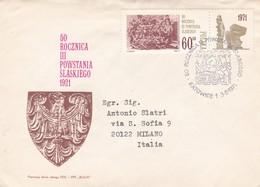 BUSTA VIAGGIATA RACCOMANDATA  - POLONIA - 50 ROCZNICA III POWSTANIA SLASXIEGO 1921 - ANNO. 1971 - 1944-.... Repubblica