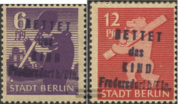 Fredersdorf 69-70 (complete Issue) Not Testable, Stamp In Private Hands Unmounted Mint / Never Hinged 1945 Save That Chi - Zona Soviética
