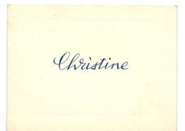 Geboortekaartje Carte De Naissance - Christine Quittelier - Antwerpen - 4 November 1946 - Birth & Baptism
