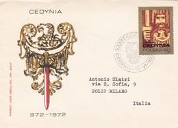 BUSTA VIAGGIATA RACCOMANDATA  - POLONIA - CEDYNIA - 1972 - 1944-.... Repubblica