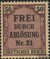 German Empire D8 With Hinge 1903 Prussia/Inscription - Unused Stamps