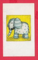 K1798 / 1998 - CHILD DRAWING ANIMALS  Elephant Elifante Elephant , Calendar Calendrier Kalender ,  Bulgaria Bulgarie - Calendars