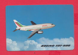 K1801 / 1992  BALKAN BULGARIAN AIRLINES , BOEING 737 - 500 Airliner ,  Calendar Calendrier Kalender  Bulgaria - Calendars