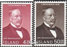 Island 424-425 (completa Edizione) Usato 1968 50 Anni L'indipendenza - 1944-... Republik