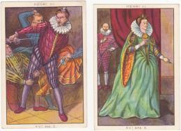 Lot De 2 Chromos/images - Blédine - Henri III - Autres