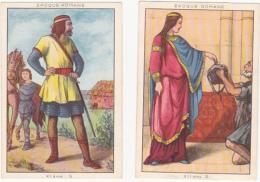 Lot De 2 Chromos/images - Blédine - Epoque Romane - Autres
