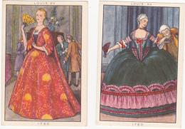 Lot De 2 Chromos/images - Blédine - Louis XV - Autres