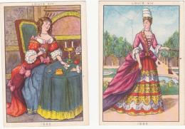 Lot De 2 Chromos/images - Blédine - Louis XIV - Autres