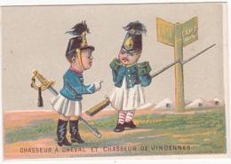 Chromo - La Chicorée Indigène Arlatte & Cie - Chasseur à Cheval Et Chasseur De Vincennes - Tea & Coffee Manufacturers
