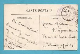 76 Seine Maritime Franchise Militaire Carte Avec Cachet GVC Garde Des Voies De Communications Groupe De Dieppe 1915 - War 1914-18