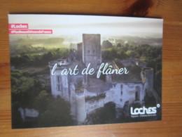 Donjon. L'art De Flaner. Carte Postale Publicitaire D'office Du Tourisme A Loches, 2018 - Loches