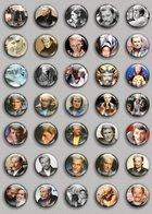 Johnny Hallyday Music Fan ART BADGE BUTTON PIN SET (1inch/25mm Diameter) 35 DIFF 4 - Music