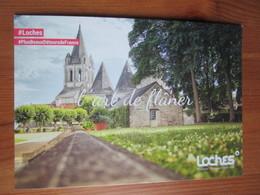 Eglise. L'art De Flaner. Carte Postale Publicitaire D'office Du Tourisme A Loches, 2018 - Loches