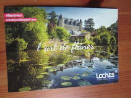 Montresor. L'art De Flaner. Carte Postale Publicitaire D'office Du Tourisme A Loches, 2018 - Montrésor