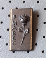 8. March International Women's Day  Roses Flowers Slovenia Pin - Associations