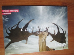 Le Grand Pressigny. L'art De Flaner. Carte Postale Publicitaire D'office Du Tourisme A Loches, 2018 - Le Grand-Pressigny