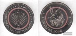 FRD (FR.Germany) 2017 A Stgl./unzirkuliert Reprint: 450.000 Polymerring: Red Stgl./unzirkuliert 2017 5 Euro Tropical Zon - Germany