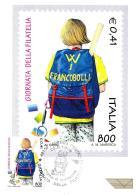 [MD1860] CPM - GIORNATA DELLA FILATELIA - W I FRANCOBOLLI - CON ANNULLO 25.9.1999 - NV - Timbres (représentations)