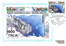 [MD1863] CPM - EUROPA '99 PARCO NATURALE DELL'ARCIPELAGO TOSCANO - CON ANNULLO 12.9.1999 - NV - Francobolli (rappresentazioni)
