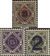 Württemberg D130,D131,D133 (completa Edizione) Favor Svalutazione Usato 1917 I Numeri In Diamond - Wuerttemberg