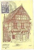 YONNE - Dépt N° 89 = JOIGNY 1954 = CARTE MAXIMUM + CACHET Temporaire Illustré' EXPOSITION PHILATELIQUE ' - Maximum Cards