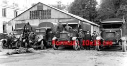 Reproduction D'une Photographie De Plusieurs Camions Berliet En 1925 - Reproductions