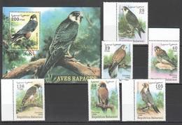 F526 1999 SAHARAUI FAUNA BIRDS AVES RAPACES 1SET+1BL MNH - Aigles & Rapaces Diurnes