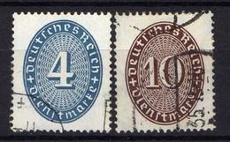 DR Dienstmarken 1933, Mi D 130-131, Gestempelt [200618XVII] - Oficial